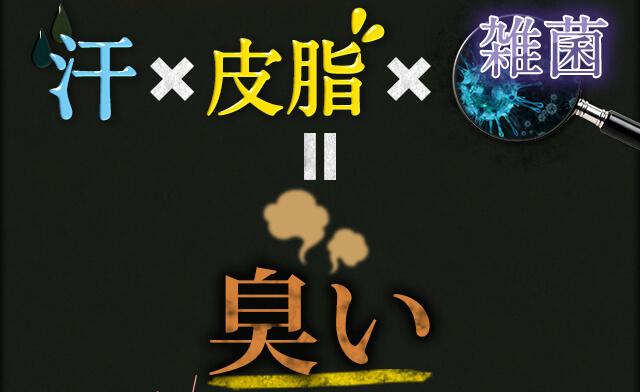 汗×皮脂×雑菌=臭い